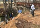 Twenty-seven staff members from the Parks and Recreation Department participated in the spruce up project along with staff from Clemson Extension and Upstate Forever.