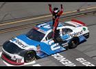Tyler Reddick, driver of the No. 2 Roland Chevrolet, celebrates winning the NASCAR Xfinity Series MoneyLion 300.