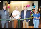Owner Dr. Robert Bousquet cut the ribbon Friday with Greer Chamber President David Merhib (far left) and Josh Shaffer, Director of Membership Development with the Chamber, along with Haley Weldon (far right), who works at the office.