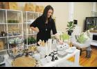 Anna Stouffer, Owner of Urban Petals, has opened a retail shop in her current design studio on Trade Street in Greer.