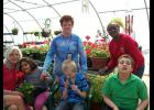 Washington Center students and staff prepare for their school's annual plant sale.