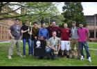 Front row, left to right: Darian Gladney, second place singles competition and Colton Seaver, first place singles competition. Back row, left to right: Riley Wagner, Alex Zylstra and Bryson Lister placed third in the team competition; Instructors Eddie Squires and Todd Varholy, and first place team Jonathan Schmal, Dillan Sternersen, and Angelo Hernandez.