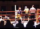 Corey Hollis won his debut middleweight boxing match in Charleston over the weekend.