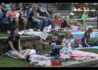 Families filled the Greer City Park Amphitheater last Thursday for the first Moonlight Movies event of the year. The event will feature 'Space Jam' on June 17.