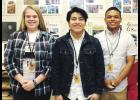 Greer High art students, left to right, Michaelyn Russell, Emmanuel Martinez and Francisco Galvari Ruiz received recognition in the PTSA Reflections art contest.