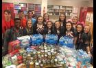 Blue Ridge Varsity cheerleaders and basketball players partnered to organize relief items for Hurricane Florence survivors recently. The group collected bottled water, canned goods, toiletries and other essentials for those trying to recover.