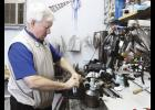 Leland Crim has been repairing clubs and providing lessons at Crim's Golf Center, located at 1388 W. Wade Hampton Blvd., for 20 years.