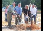 From left: Greer Mayor Rick Danner, Jim Boyd, commercial lending manager for Greer State Bank, and Kelly and Keith Herringshaw broke ground on Concrete Connection last Thursday at 177 Brookshire Road in Greer.