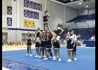 Greer High cheerleaders were able to practice pyramids and stunts at the UCA Camp.