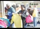 Greer Community Ministries held a Sidewalk Sale last Saturday to clean out fall and winter clothing, making room for spring and summer items.