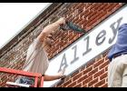 Barista Alley is making progress on its downtown Greer location, installing a sign Tuesday afternoon. The business is one of many opening its doors in the city in 2017.