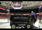 Richard Chumley resurfaces the ice at the Bon Secours Wellness Arena before a Swamp Rabbits game Thursday.
